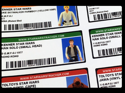 Star Wars Tracker Labels